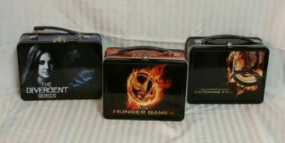 LOT OF 3 HUNGER GAMES/DIVERGENT ~ COLLECTIBLE TINS