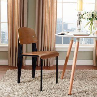 New Set of 4 Dining Side Chairs Walnut Free Ship