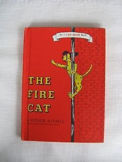 Vintage 1960 The Fire Cat Children's Hard Cover Book