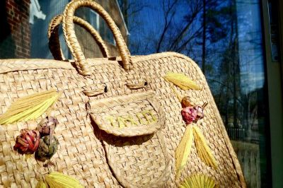 From the Border...Vintage Wicker Bag Mexico Shopper Tote/Beach Bag