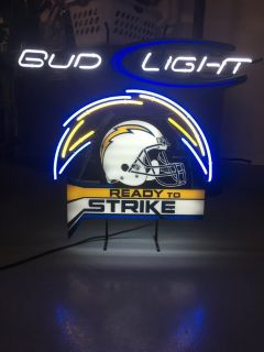 Chargers- Bud Light Neon Sign