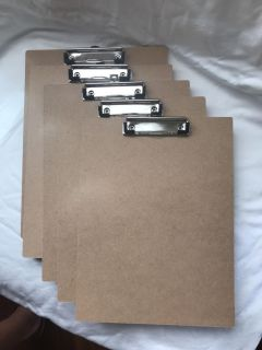 5 clipboards