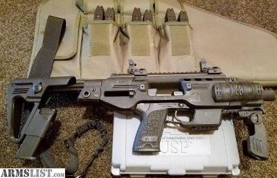 For Sale: HECKLER+KOCH USP 40 + MICRO RONI PACKAGE+8 MAGS+RANGE BAG/SLING/$30 SHIP