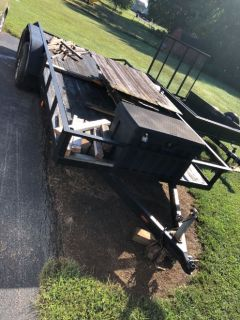 16 foot tandem axle trailer no brakes good condition