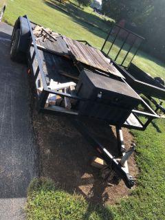 16 foot tandem axle trailer no brakes good condition