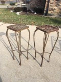 Vintage Cast Iron Outdoor Plant Stands