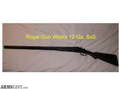 For Sale: Royal 12 Ga. SXS Shotgun