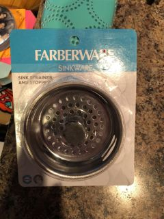 New in pkg sink strainer and stopper by FARBERWARE, nice!