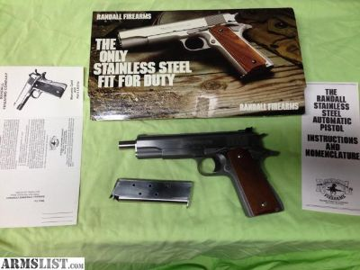 For Sale: Randall 45 ACP Model A131 Adjustable Sights Pistol