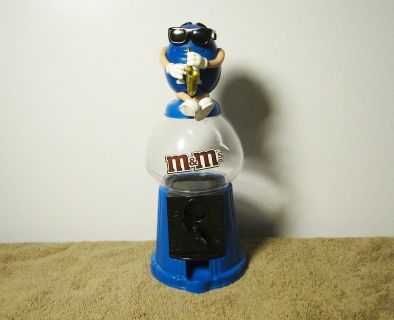"Mars M&M's Blue ""Saxophone Player"" Gumball Style Dispenser & Bank 2008"