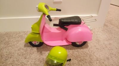 Doll Scooter (Lime Green and Pink Color)