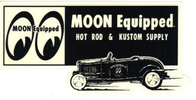 Sell MOON SUPPLY DECAL RAT HOT ROD CUSTOM GASSER DRAG RACING NHRA SCTA 1932 FORD CAR motorcycle in Sacramento, California, US, for US $9.99