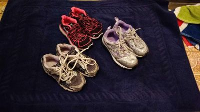 $5.00 each or all three for $12.00 Girls shoes