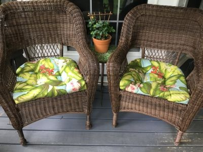 Wicker Chairs w Table