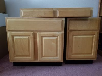 Oak cabinets and countertop