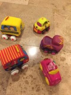 lot of 5 baby toddler small cars