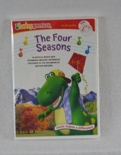 NEW Baby Genius The Four Seasons DVD + Bonus CD Age 0 - 48 Months Infant Toddlers