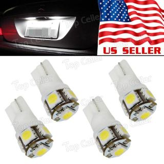 Sell 4pcs White 5SMD 5050 LED Car Rear License Plate Lights 12V T10 194 Bulbs motorcycle in Milpitas, California, United States