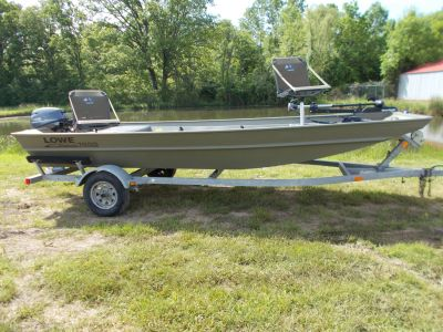 2016 Lowe ROUGHNECK 1655 BIG RIVER W/ YAMAHA 25 & TRAILER Aluminum Fish Boats West Plains, MO