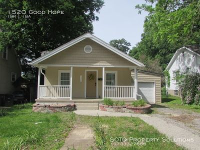 Updated, 1BD/1BA House w/ 1-Car Garage