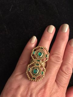 Gold/Emerald Green Ring