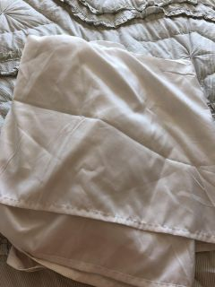 Queen ivory new bed skirt