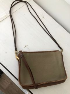 Vintage Canvas and Leather Coach purse