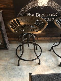 3 Tractor seat bar stools