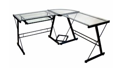 Glass/Metal Desk ... Below is the description from Amazon when I bought it four years ago. Currently it is in my temporary storage shed.
