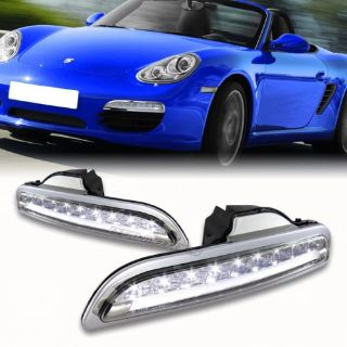 Find 05-08 Porsch BOXSTER 987 Chrome Housing LED Daytime DRL Bumper Driving Lights motorcycle in Rowland Heights, California, United States