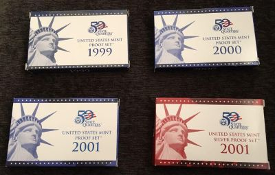 Mint Proof Set: coin collection years from 1999-2001
