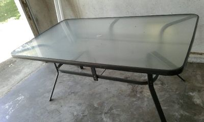 Outdoor Patio Glass Table