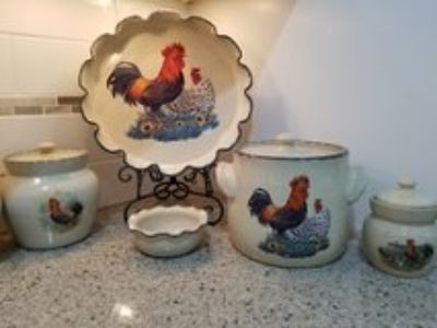 Rooster Kitchen Pottery, Home & Garden