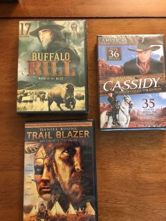NEW 3 DVD SETS OF Over 64 classic family western and classic family friendly movies