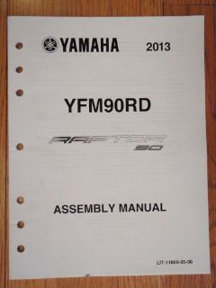 Buy GENUINE YAMAHA 2013 RAPTOR90 ASSEMBLY MANUAL ATV 4 WHEELER NEW motorcycle in Prior Lake, Minnesota, United States, for US $9.99