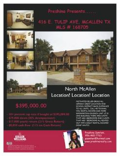 ATTENTION INVESTORS (NORTH MCALLEN)