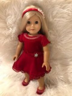 American Girl Doll Formal Winter Dress Outfit