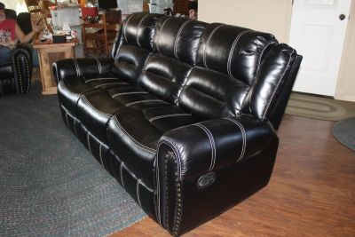Brand new couch with recliners. ( Not leather)