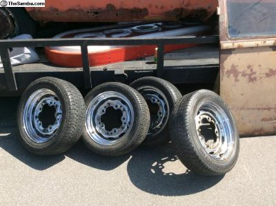 2 sets of chrome rims for early bug or buses