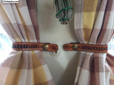Curtain tie back straps 1968-1979Westy custom made