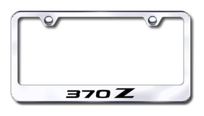 Sell Nissan 370Z Engraved Chrome License Plate Frame Made in USA Genuine motorcycle in San Tan Valley, Arizona, US, for US $30.98