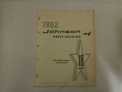 Find 1962 JOHNSON PARTS CATALOG 18 HP MOTORS @@@CHECK THIS OUT@@@ motorcycle in Atlanta, Georgia, United States, for US $14.99