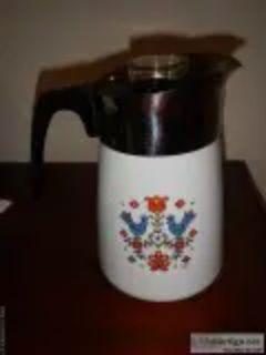 Corning Ware Coffee Pot Rare Festival Blue Birds design