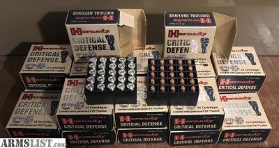 For Sale: Hornady Critical Defense FTX 380 ammo 12.50 a box