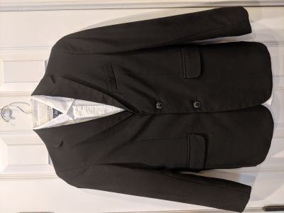 Boys Size 12 Black Blazer and Dress Shirt, Chaps