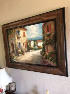 Beach cottage scene (Italy)