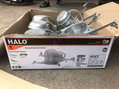 5 HALO 6 RECESSED LIGHTING HOUSING UNITS $25 OBO FIRST COME FIRST SERVE AT 522 CIRCLE WAY ST 77566