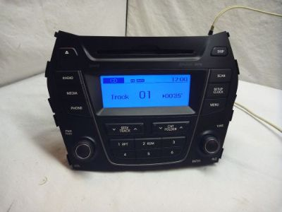 Buy 2013 Hyundai Santa Fe Radio XM Bluetooth CD MP3 96170-4Z1004X C46170 motorcycle in Williamson, Georgia, United States