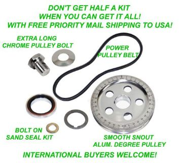 Find VW 7 PC BOLT ON SAND SEAL PULLEY KIT 5 HOLE DEGREE PULLEY BAJA BEETLE GHIA BUGGY motorcycle in Saint Johns, Pennsylvania, United States, for US $69.95