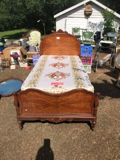 2 Twin beds mattresses and box springs headboard/ foot board